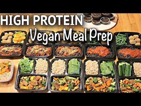VEGAN MEAL PREP FOR THE WEEK (HIGH PROTEIN / gluten-free recipes!)