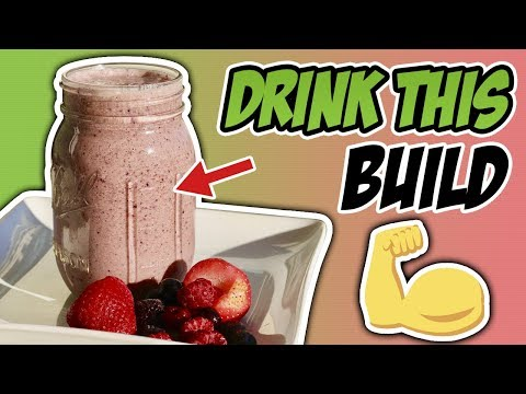 Peanut Butter & Jelly MUSCLE BUILDING Protein Shake Recipe