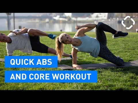 Quick Core Workout with Easier & Harder Exercise Variations
