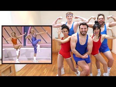 Vlog Squad Follows an 80's Aerobic Music Video
