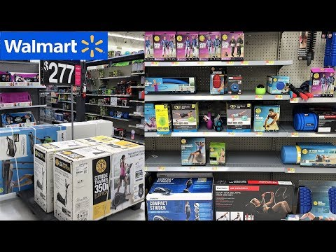 WALMART EXERCISE AND FITNESS SECTION – HOME GYMS WEIGHTS FITNESS EQUIPMENT YOGA (STORE WALK THROUGH)