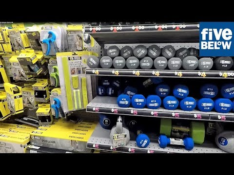 FIVE BELOW EXERCISE AND FITNESS SECTION – FITNESS EQUIPMENT WEIGHTS WORKOUT TRAIING ACCESSORIES