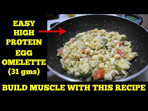 Easy High Protein Egg Omelette [31gms] For Muscle Building