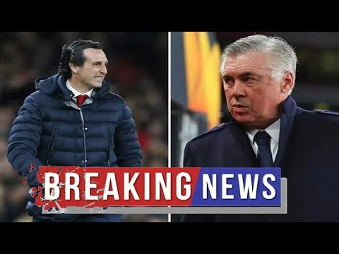 Arsenal news :  Arsenal boss Unai Emery hits back at Carlo Ancelotti fitness jibe