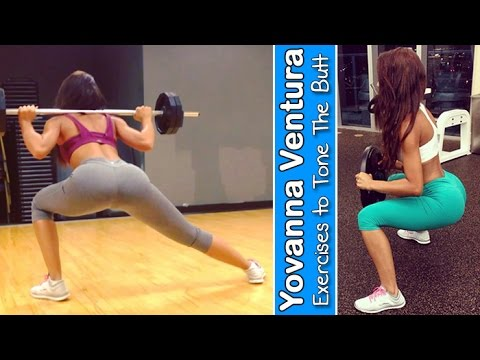 YOVANNA VENTURA – Fitness Model: Exercises to Tone the Butt – Muscle & Fitness @ USA