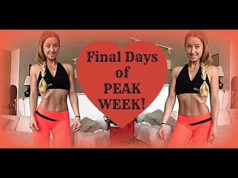 BIKINI COMPETITION PREP VLOG #12 | Final Days Of Peak Week!