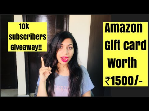 10k giveaway special l Amazon gift cards l Azra Khan fitness