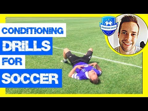 Soccer Conditioning Drills & Workouts (*Football Fitness Training without ball for kids & beginners)