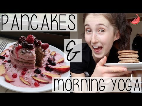 WEEKLY VLOG | THE EASIEST PANCAKE RECIPE, DAILY MORNING YOGA ROUTINE + DANCER MUSCLE SORENESS