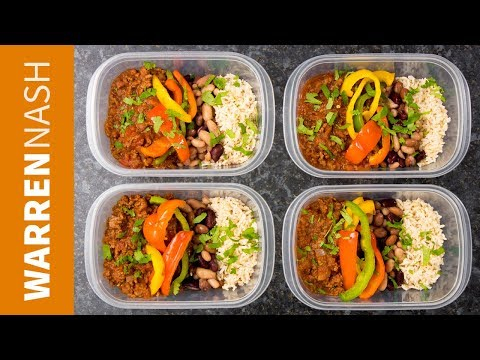 Chilli Beef Meal Prep Recipe – High Protein with Lean Ground Beef – Recipes by Warren Nash