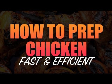 HOW TO MEAL PREP CHICKEN | FAST & EFFICIENT