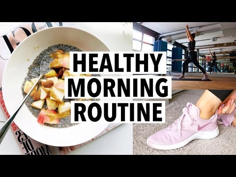 6AM HEALTHY MORNING ROUTINE 2019 – breakfast recipe, workout + productivity tips!