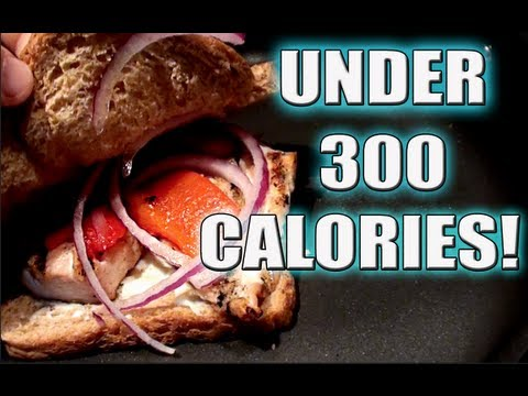 Bodybuilding Meal: Chicken and Roasted Red Pepper Sandwich