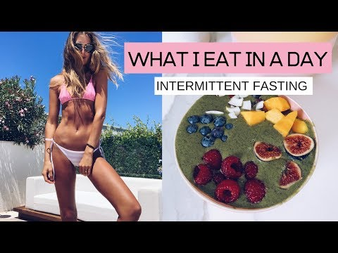 WHAT I EAT IN A DAY  //  INTERMITTENT FASTING // RAW TILL DINNER // HEALTHY VEGAN FITNESS RECIPES