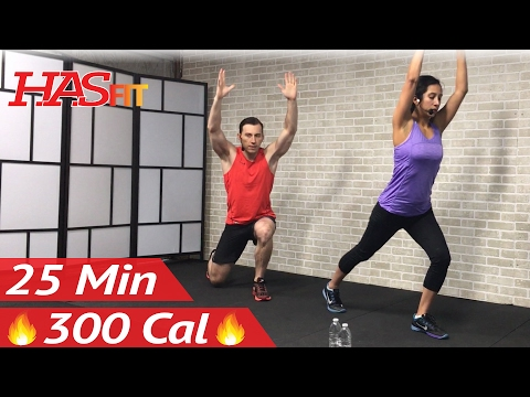 25 Min Beginner Workout Routine + 15 Min Stretch – Beginners Exercises at Home for Women & Men HIIT
