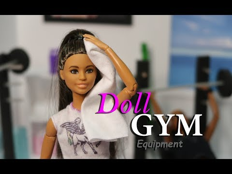 DIY – How to make: Doll Gym Fitness Equipment Doll Weight Bench with Doll Squat Rack Doll Crafts