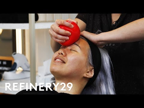 I Got A Face Gym Workout Facial For $325   Beauty With Mi   Refinery29