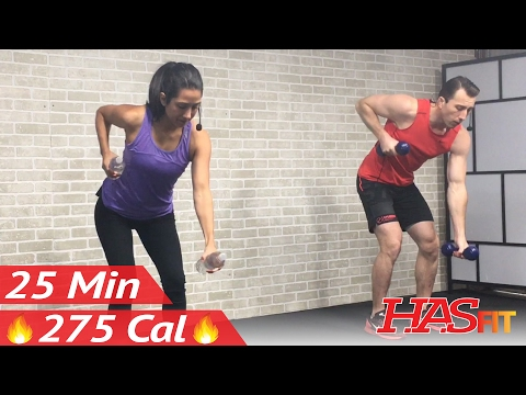 25 Min Beginner Cardio and Strength Training – Home Low Impact Cardio Workout for Beginners – Weight