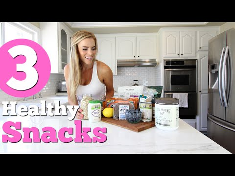 3 Easy Healthy SNACK Ideas! Protein Energy Bites, Almond Butter Blueberry Toast, Hummus