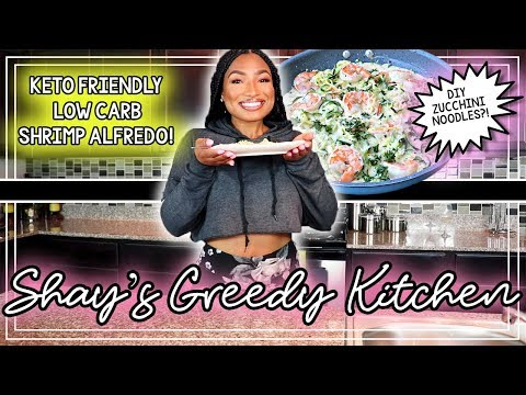 KETO FRIENDLY! LOW CARB! SHRIMP ALFREDO ZUCCHINI NOODLES! HIT OR MISS? 👀 HEALTHY MEAL IDEA!