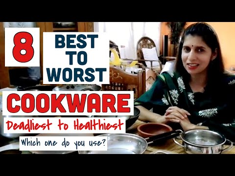 8 Best to Worst Cookware | Most Healthy Cooking Utensils for Kitchen | Which Cookware I use | Hindi