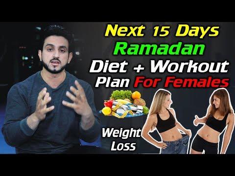 15 Days Ramadan Diet and Workout Plan For Female Urdu Hindi
