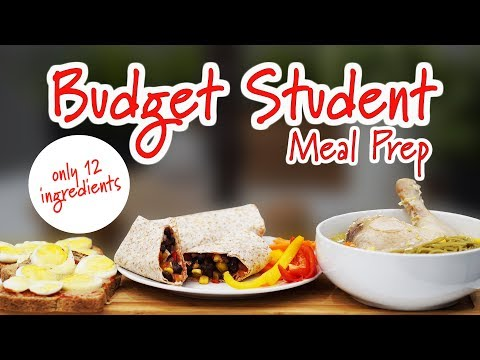 Budget Student Meal Prep (Breakfast, Lunch, Dinner) | Only 12 Ingredients | Joanna Soh