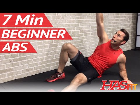 7 Min Beginner Ab Workout for Women & Men – Abs Workout for