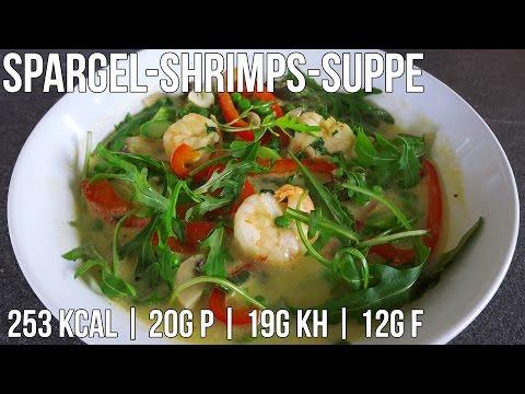 Fitness Spargel-Shrimps-Suppe | Low Carb Mahlzeit in 15 min | Schnelles Rezept