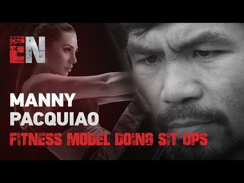 Fitness Model Doing Sit Ups Talks Manny Pacquiao EsNews Boxing