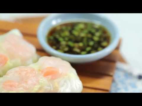 How to Make Shrimp Summer Rolls with Seasame-Soy Dipping Sauce   Cooking Light