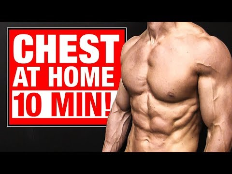 Home Chest Workout | 10 Minutes (FOLLOW ALONG!)