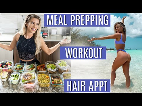DAY IN MY LIFE | Meal prepping, Workout, Hair appt, & more!