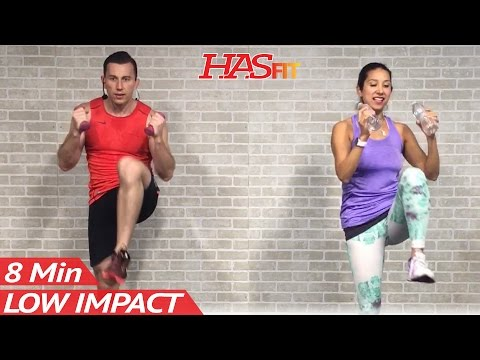 8 Min Low Impact Cardio Workout for Beginners – Easy Workouts at Home HIIT Beginner Workouts Routine