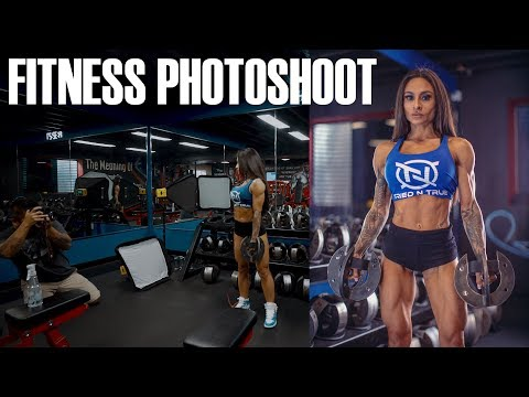 FITNESS MODEL PHOTOSHOOT | GYM | BTS (BEHIND THE SCENES)