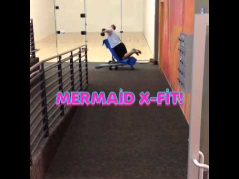 Guy Doing Weird Funny Fitness Workout At The Gym