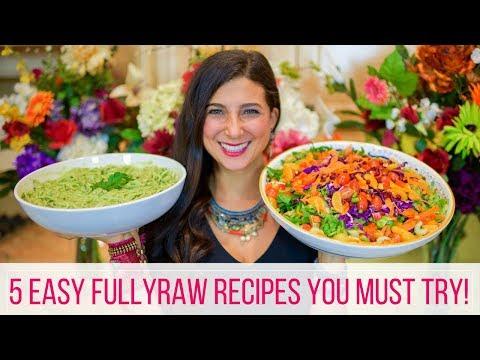 5 Easy FullyRaw Vegan Recipes for Beginners
