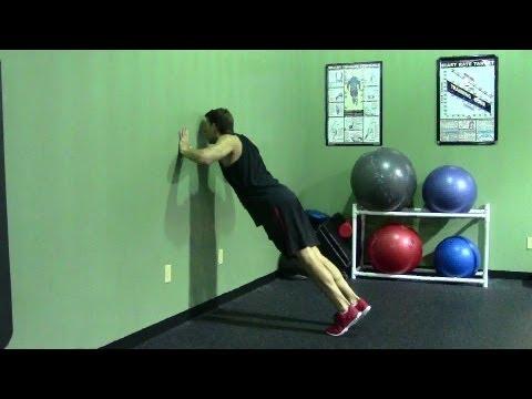 Wall Push Up – HASfit Push Up Exercise Demonstration – Beginner Push Ups – Easy Pushup