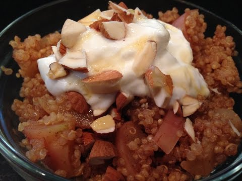 Cinnamon Apple Quinoa Breakfast Recipe – HASfit Quinoa Recipes – Healthy Breakfast Recipes