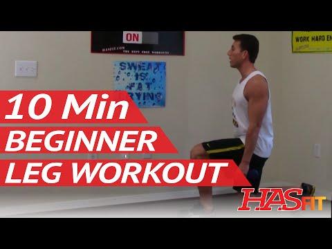 10 Min Beginner Leg Workout for Women & Men at Home – Easy Leg Workouts & Easy Exercises