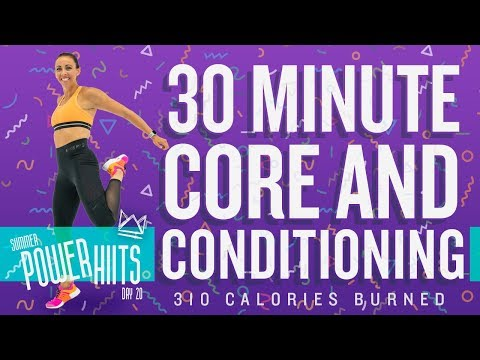 30 Minute Core and Conditioning Workout 🔥Burn 310 Calories!* 🔥Sydney Cummings