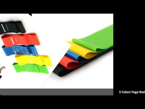 5 Colors Yoga Resistance Rubber Bands Indoor Outdoor Fitness Equipment 0.35mm-1.1mm Pilates