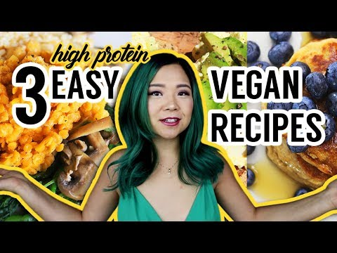 WHAT I ATE IN A DAY VEGAN (easy high protein recipes)
