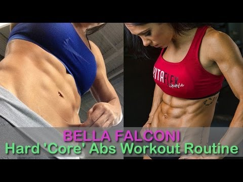 #4 BELLA FALCONI: Fitness Model: Hard 'Core' Abs Workout Routine @ Brazil