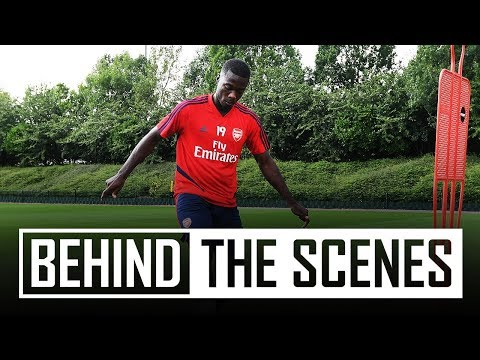 Nicolas Pepe's first look at Arsenal training centre
