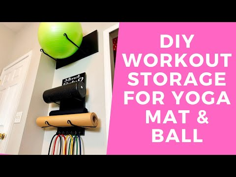 Workout Equipment Storage Diy Gym Storage Diy Yoga Ball
