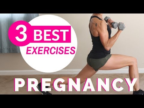 3 BEST PRENATAL EXERCISES | Pregnancy Workout At Home