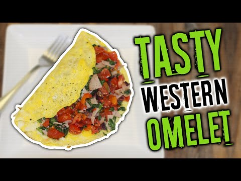 How To Make A Western Omelette Recipe (HEALTHY HIGH PROTEIN BREAKFAST)