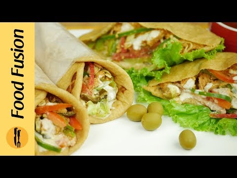 Chicken Shawarma | Home made Chicken shawarma Recipe By Food Fusion