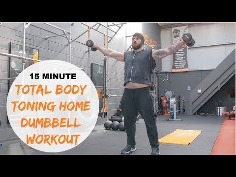 15 Minute Full Body Toning Home Dumbbell Workout